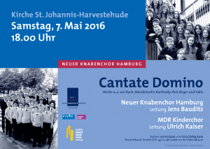 Cantate Domino - Plakat A4 16-05-07